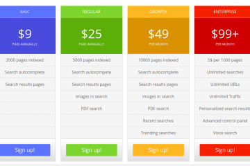 site search pricing