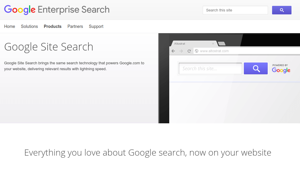 google site search login
