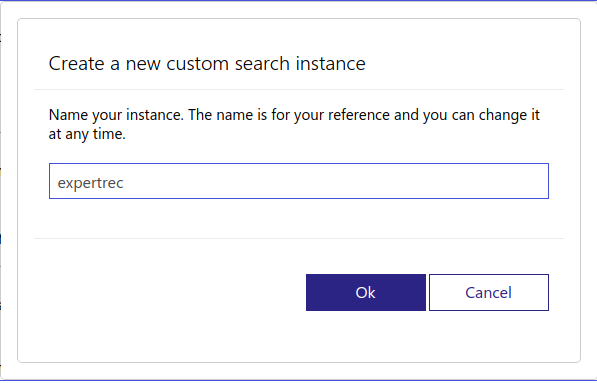 bing custom search