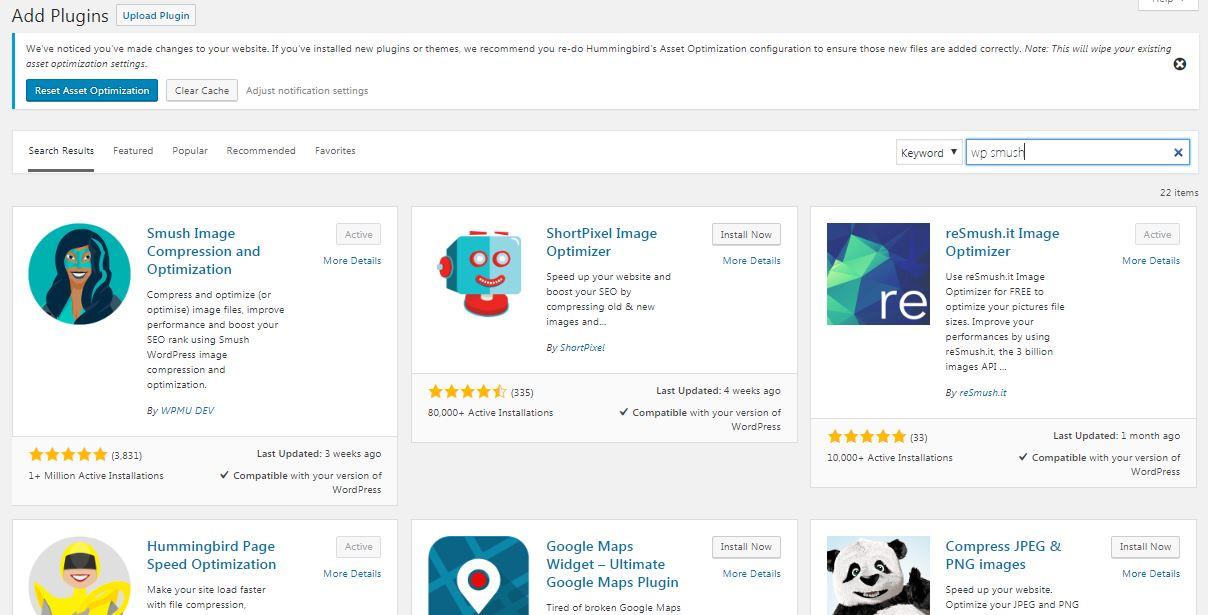 Wordpress Image optimizer
