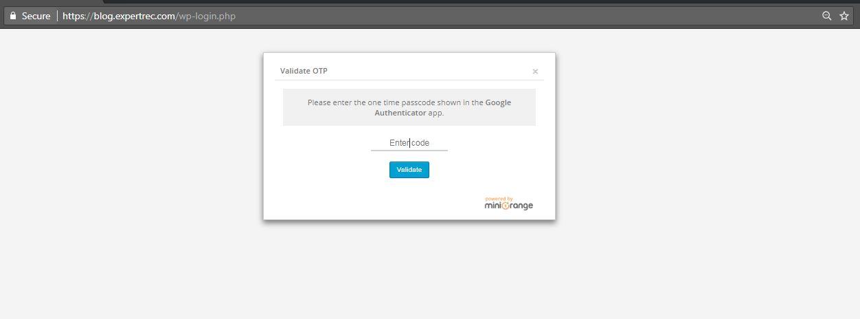 wordpress google authenticator