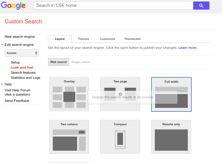 How to disable/remove google branding in google custom search CSE
