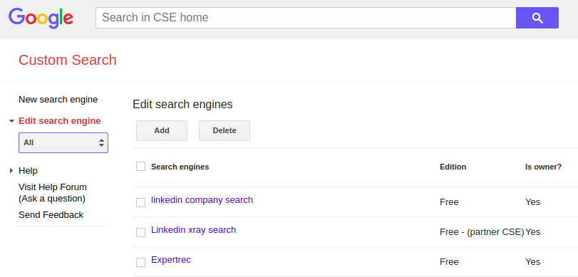 How to remove URLs in Google custom search