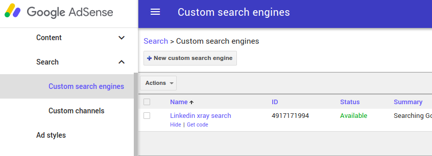 adsense google custom search