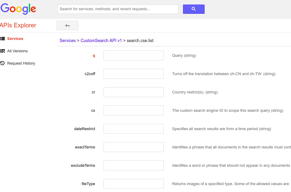 google custom search JSON simplified
