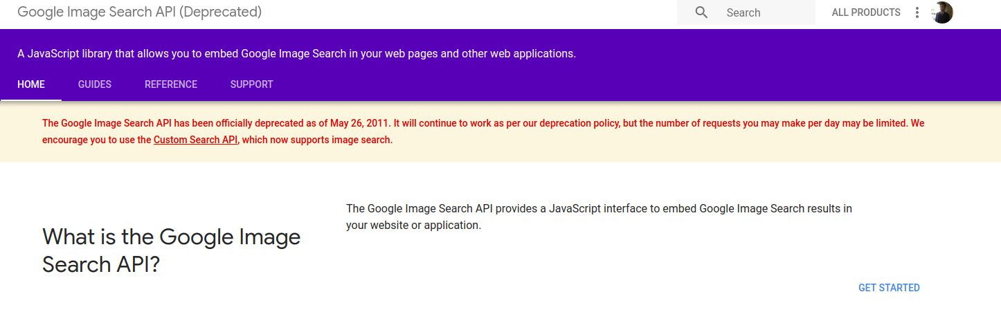 SOLVED] | Google image search api discontinued  What to do
