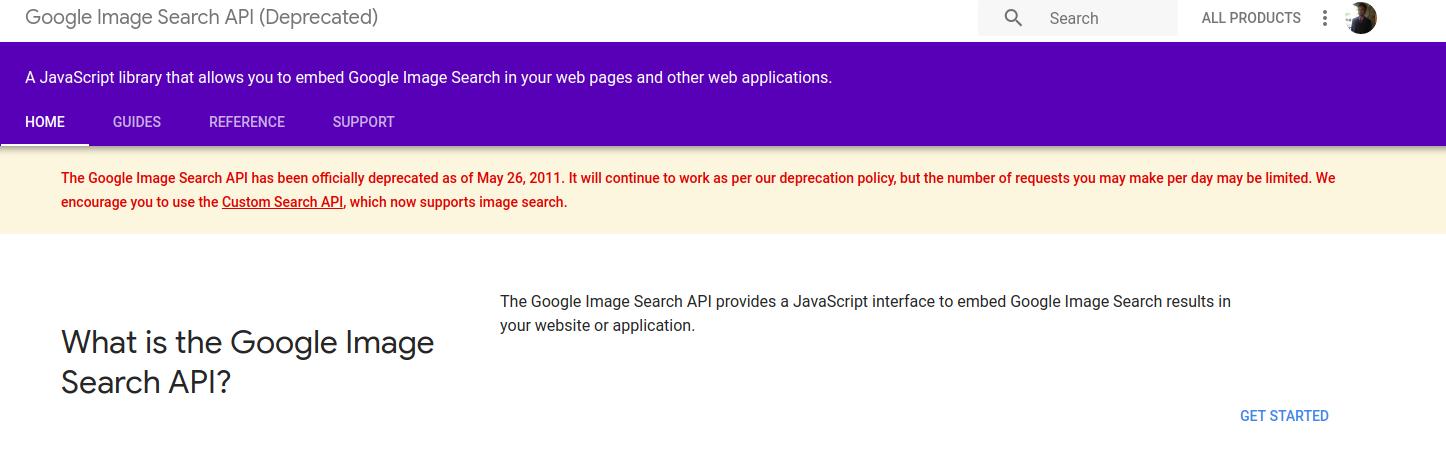 google image search api