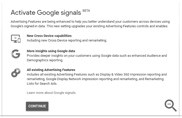 how to activate google signals