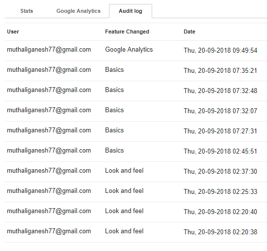 SOLVED] | How to track changes (or audit log) in google