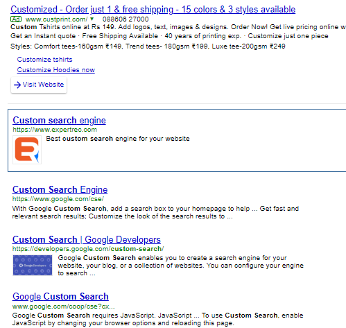 SOLVED] | How to enable search promotions in google custom