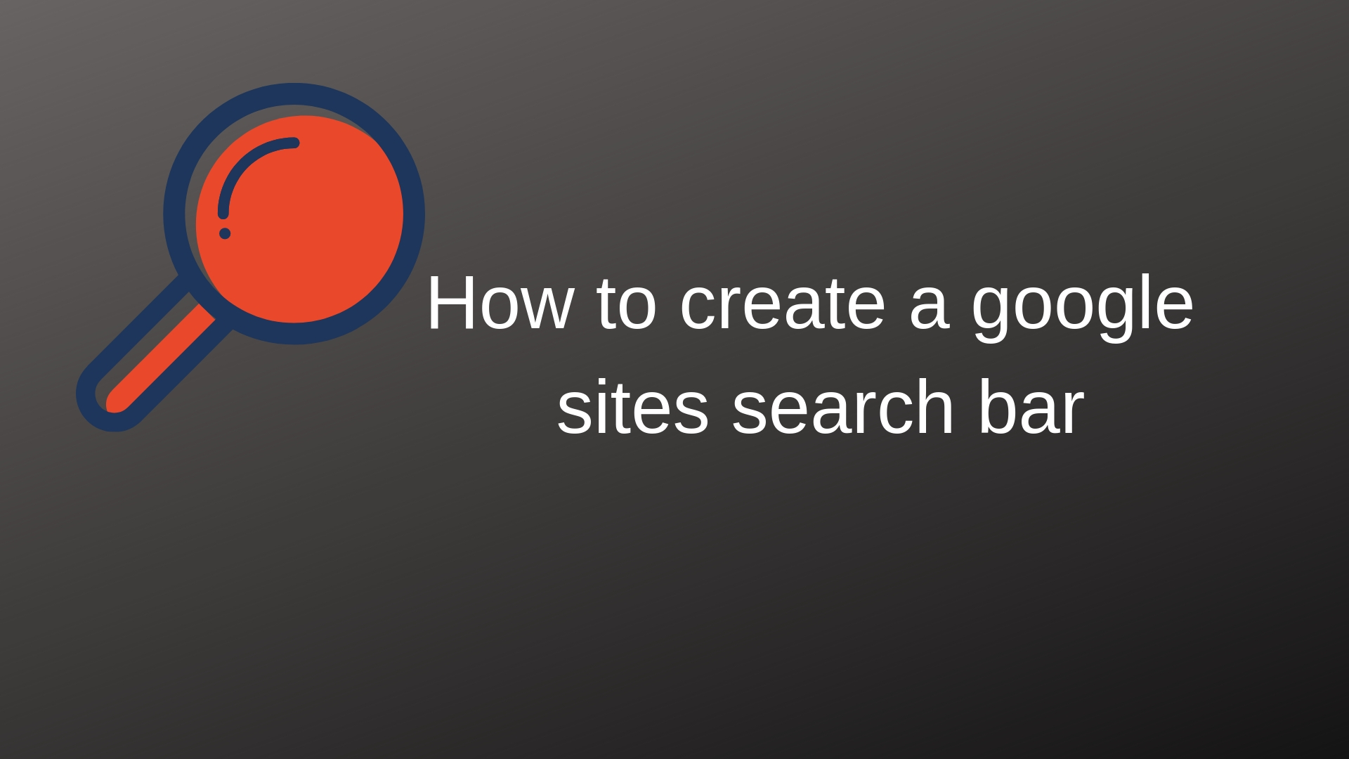 How to create a google sites search bar
