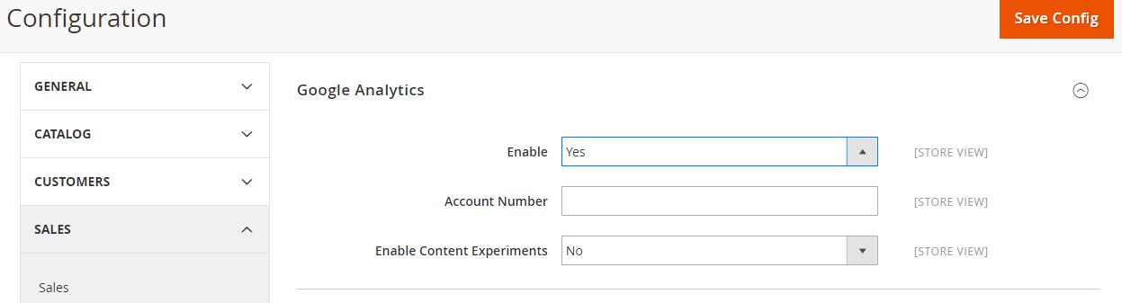 how to add google analytics to magento 2