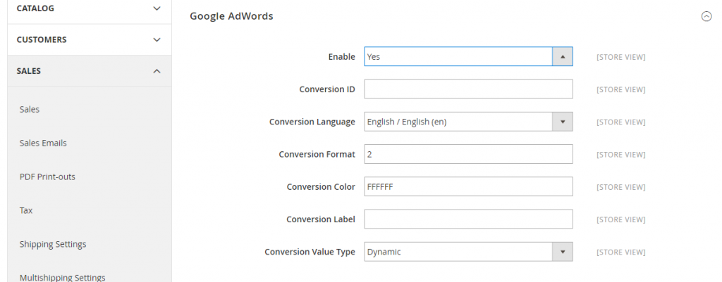 How to enable Google adwords conversion tracking in magento 2