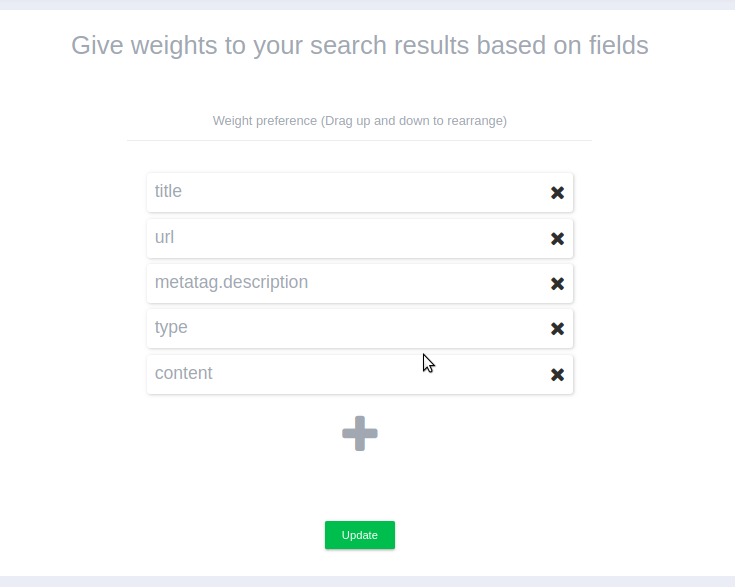 Expertrec search weights