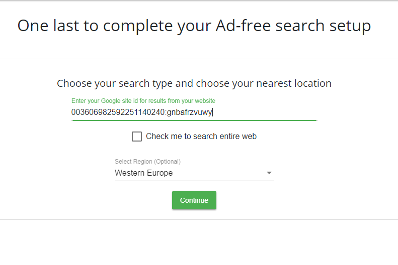 How to create an unlimited ad free custom search for large websites