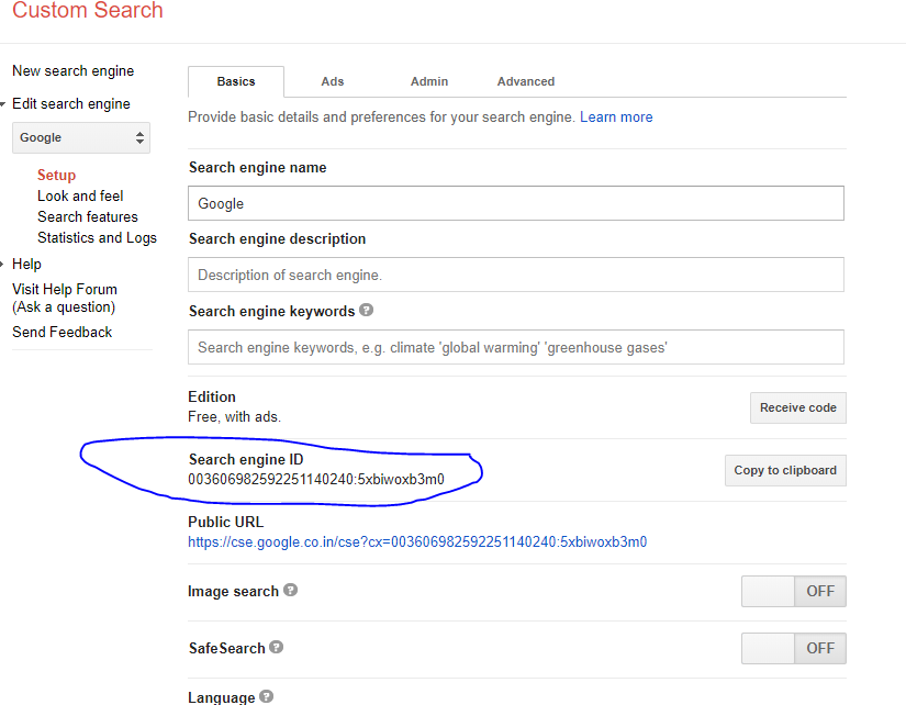 SOLVED] | How to get your google custom search ID (CX id