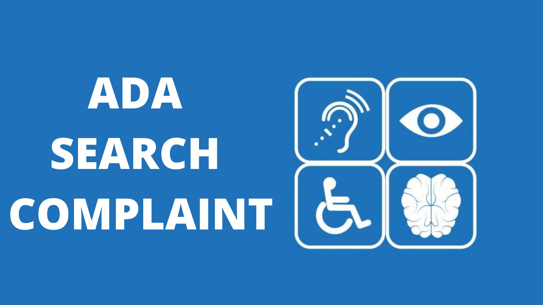 ADA compliant search