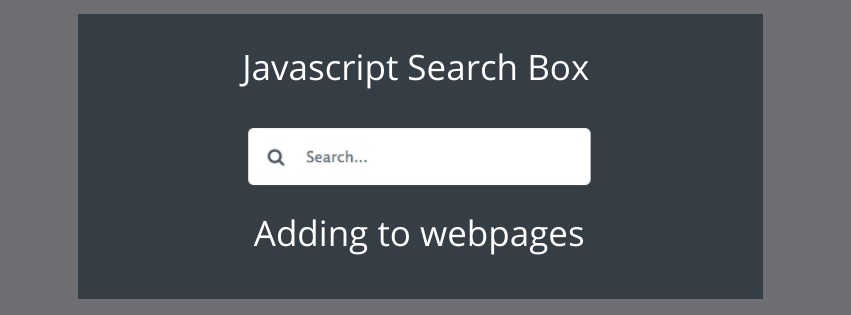 Create a Javascript Search Box in 5 Minutes