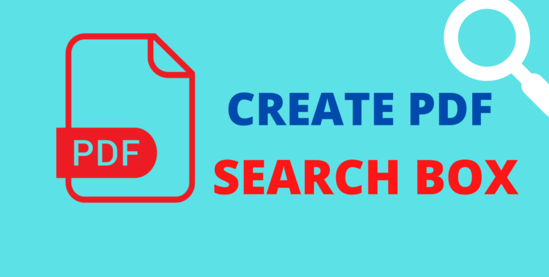 How to create a PDF search box