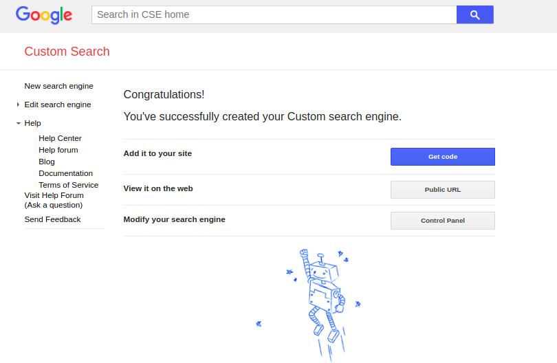 custom search created
