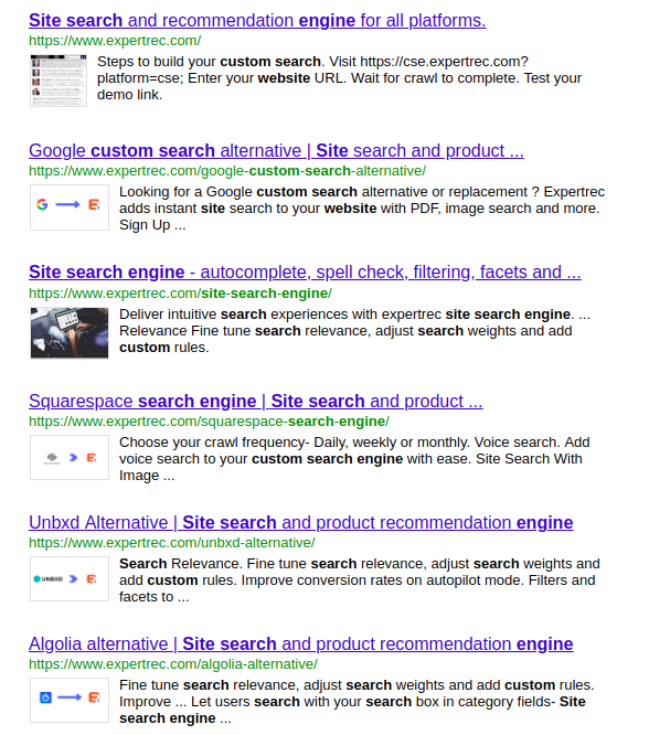 Google Search Results Demo