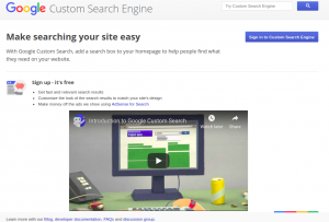 google custome search home