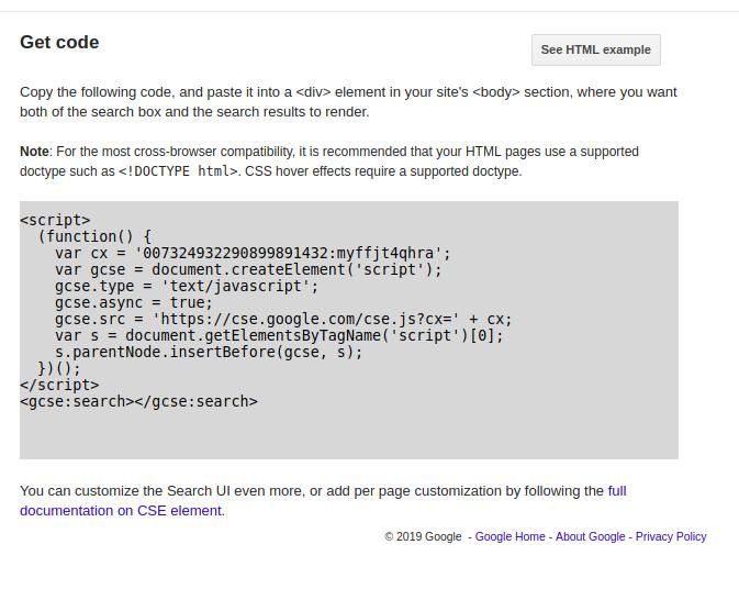 google search script code