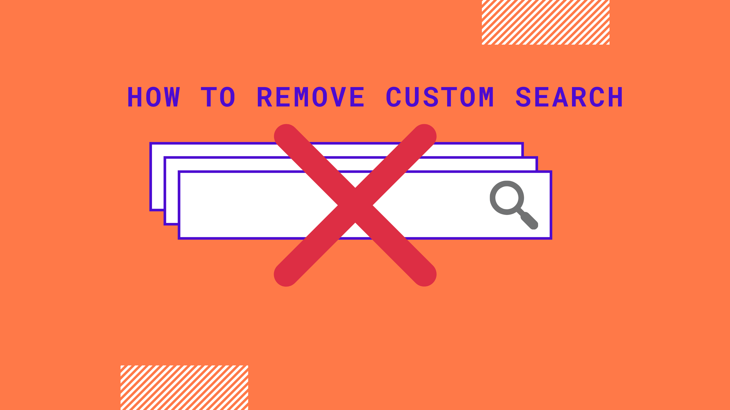 how to remove custom search