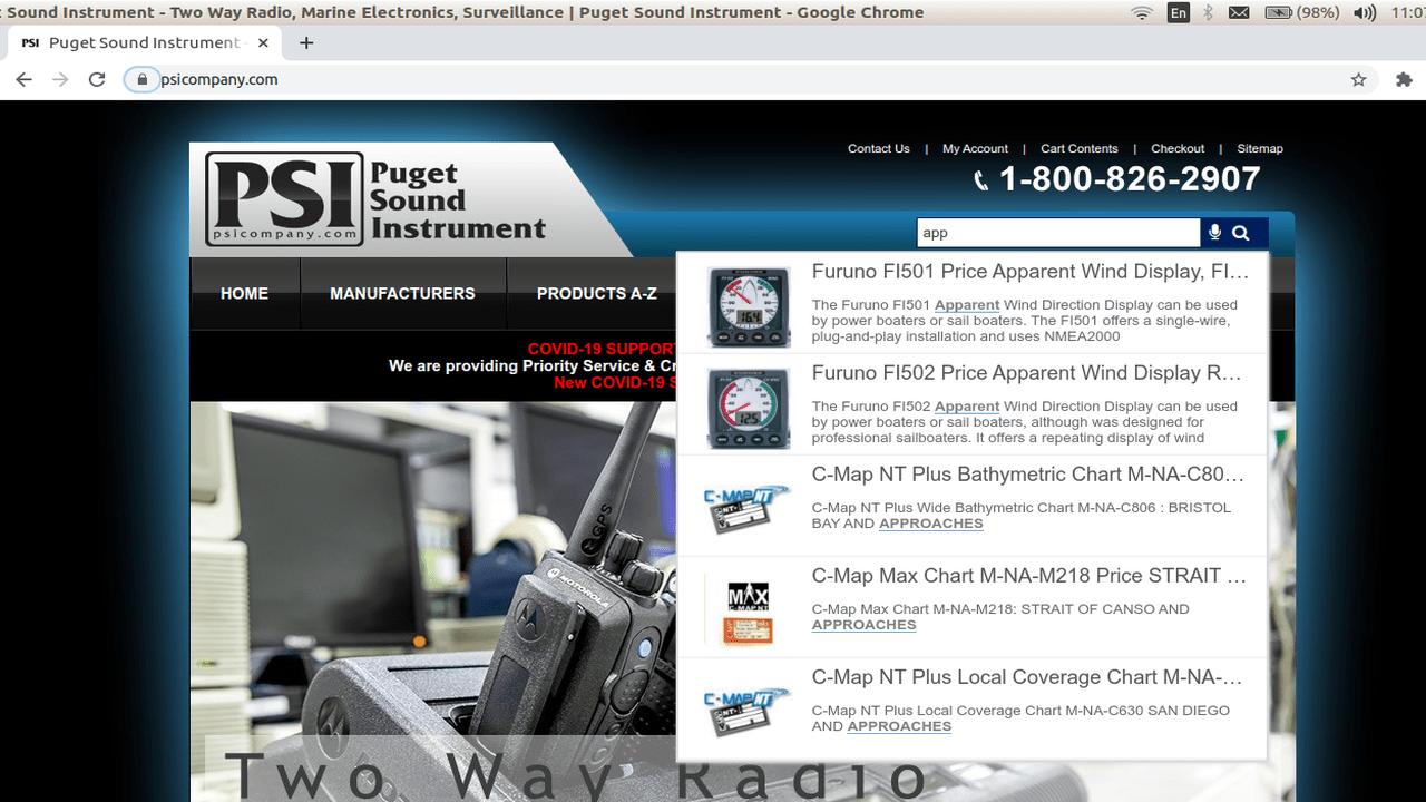 internal website search script
