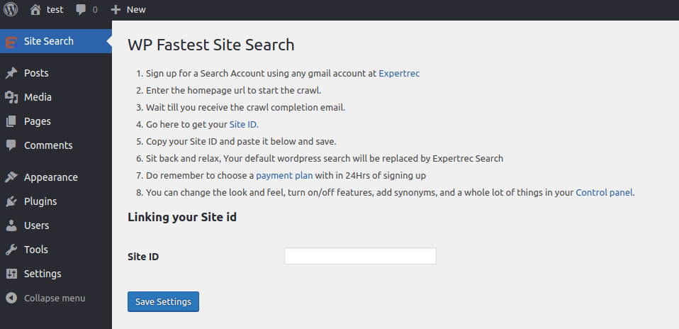 wordpress search not working