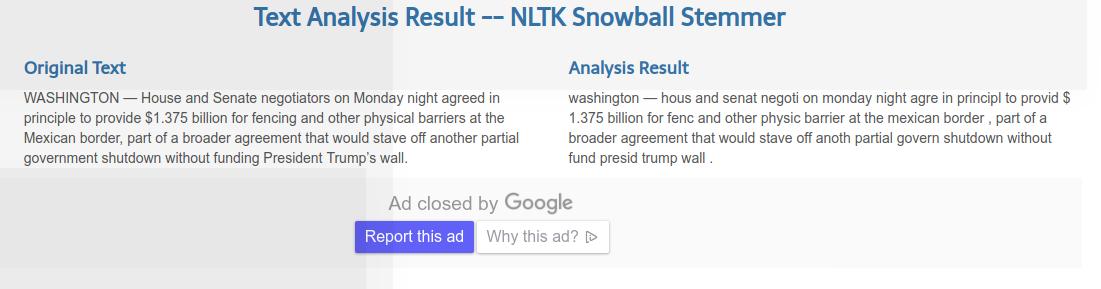 snowball stemmer