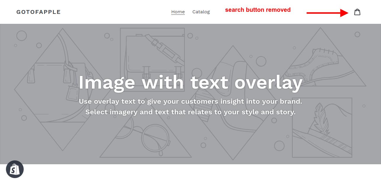 remove shopify search button