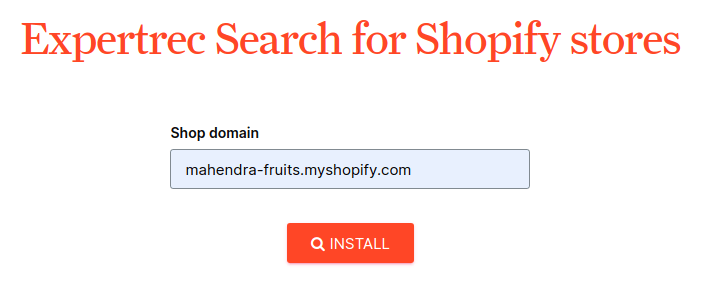 Ecommerce Shopify Autocomplete search box
