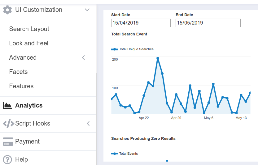 site search analytics - ExpertRec