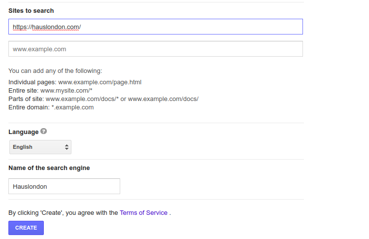 add google custom search to shopify