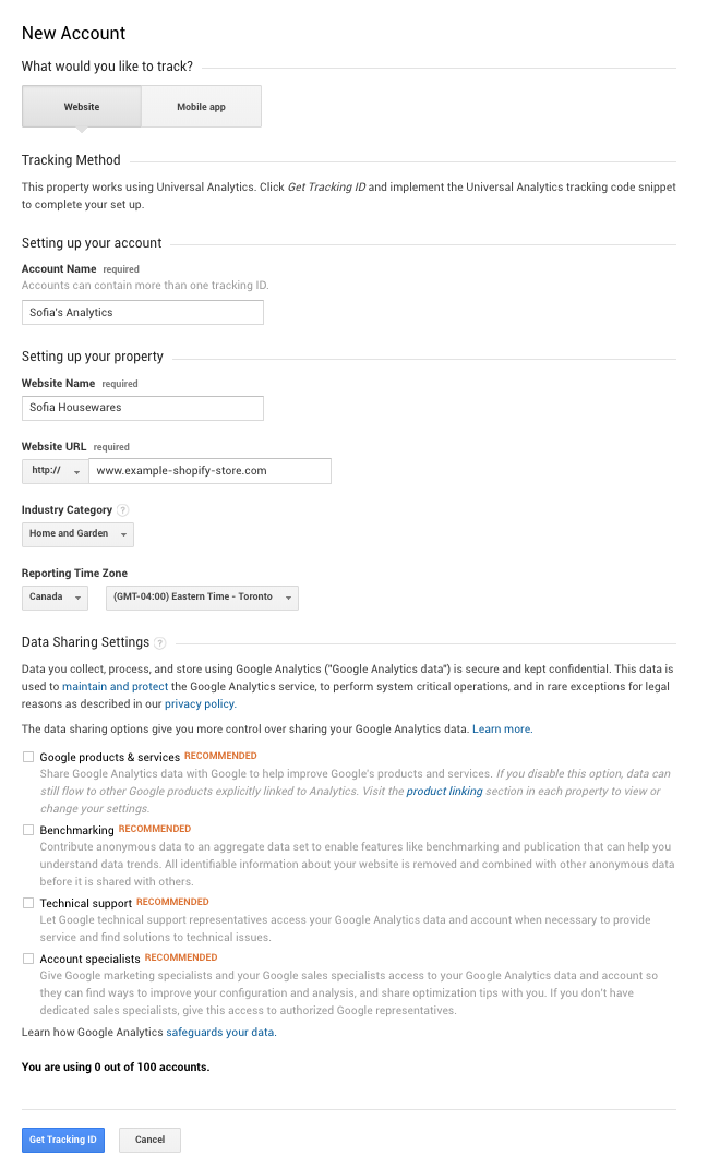 add google analytics to shopify