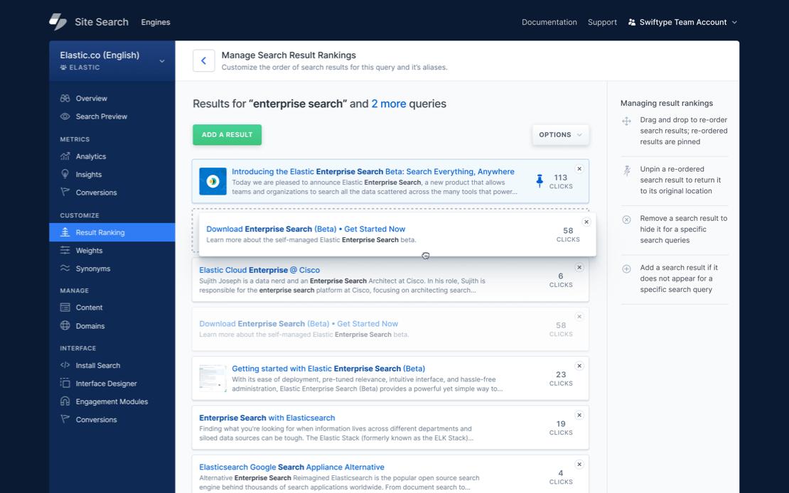 Elastic Search Dashboard