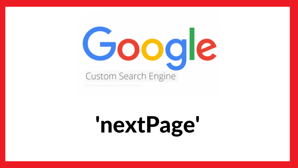Google custom search next page