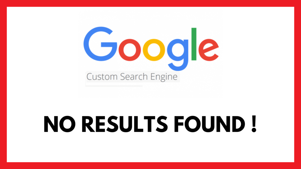 Google Custom Search no results message