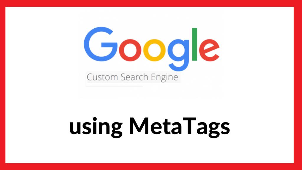 Google Custom Search using Meta Tags