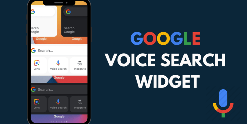 Google voice search widget