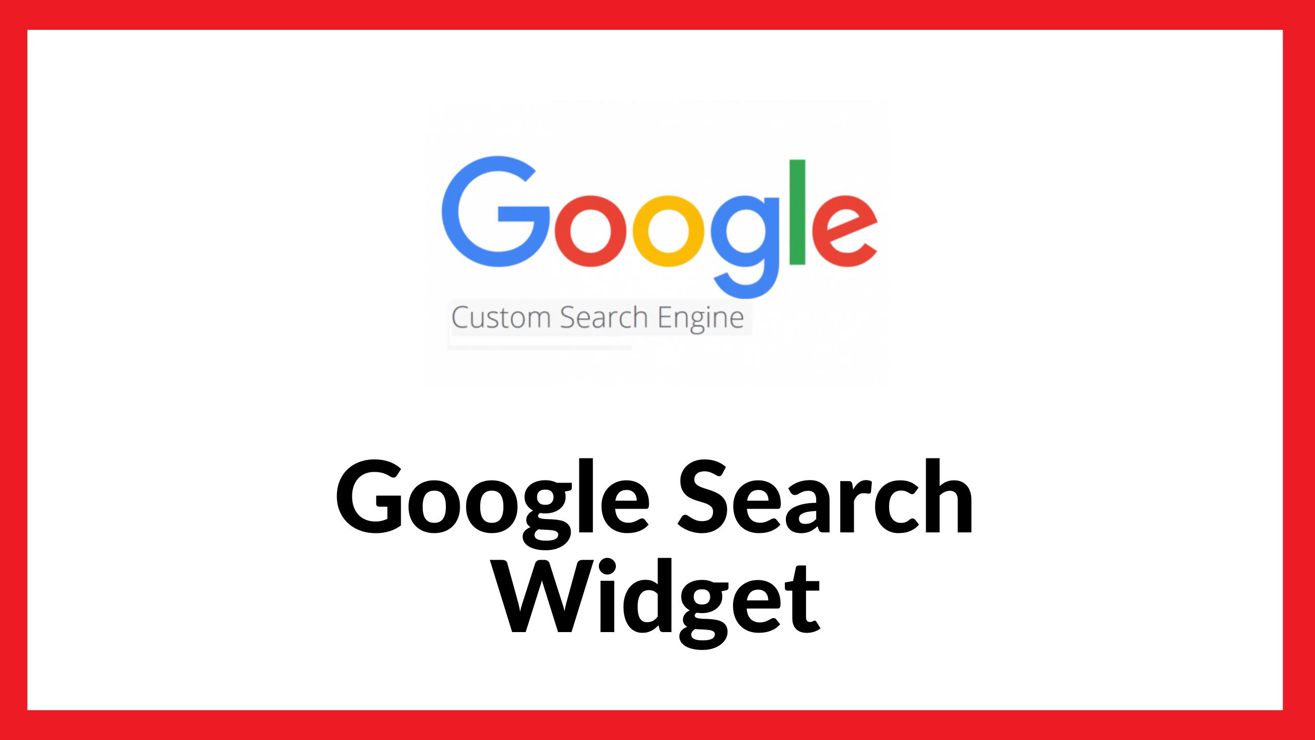 Google Search Widget for Website