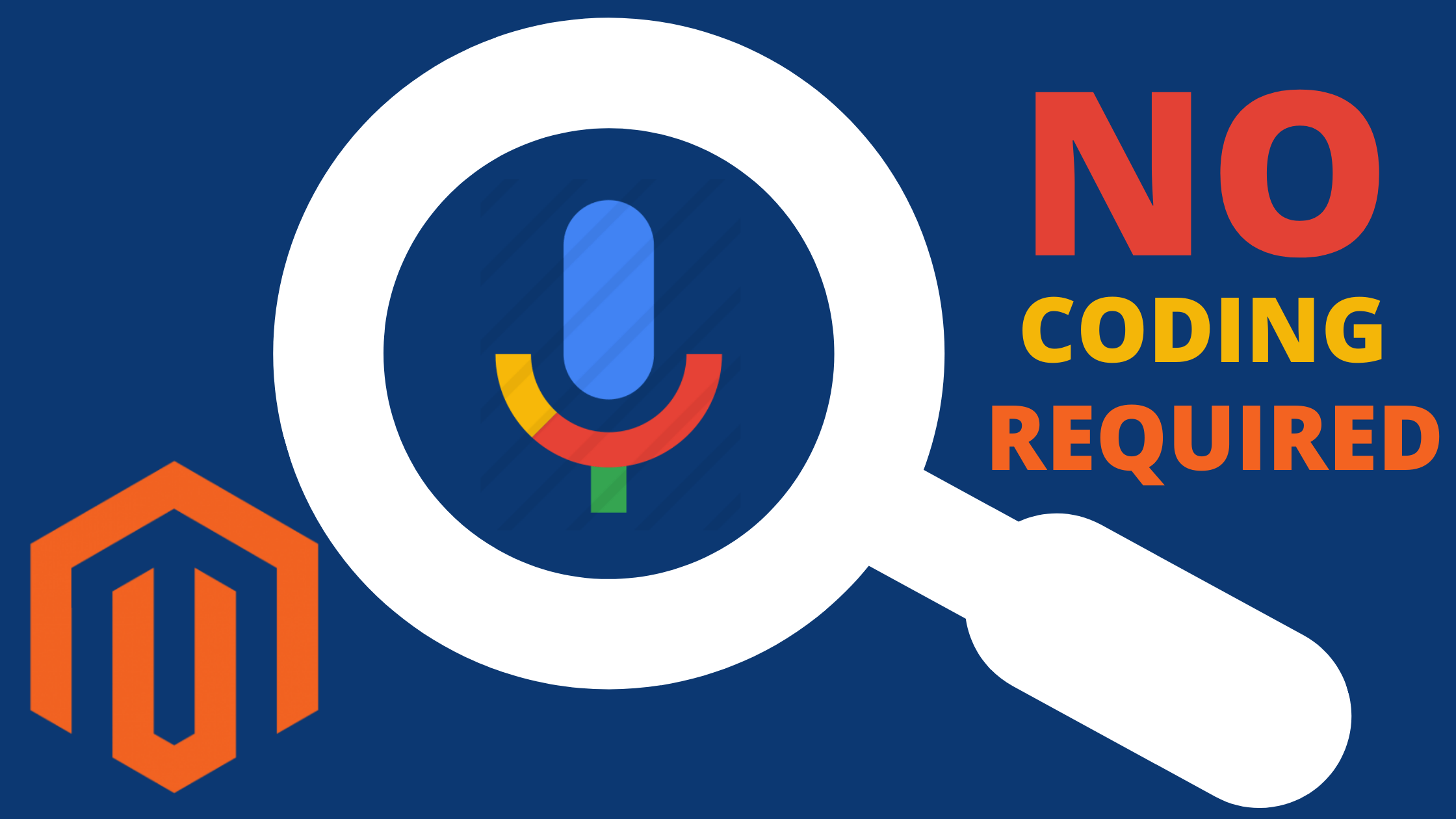 How to add voice search to Magento 1 and 2 without coding