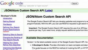 JSON Custom Search Engine