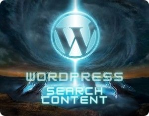 wordpress search content