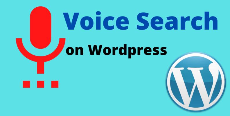 wordpress voice search