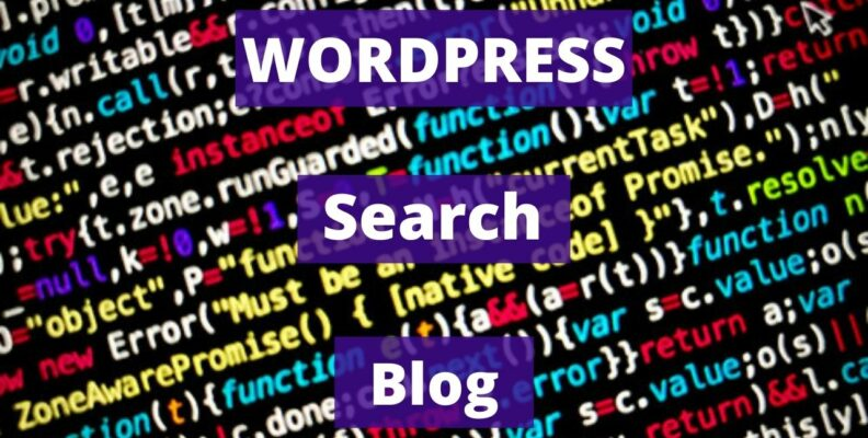 Wordpress search blog