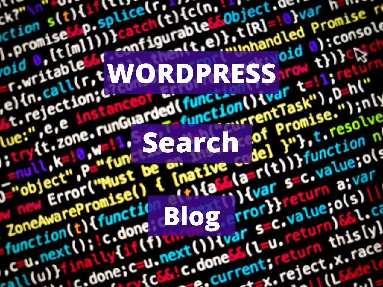 Wordpress search blog