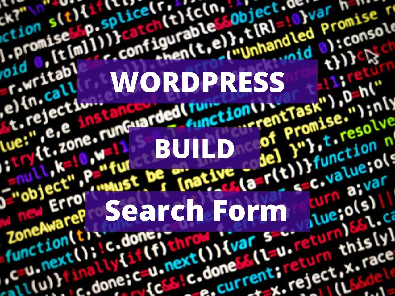 Wordpress Build Search Form