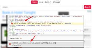WordPress Search form